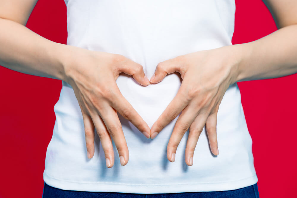 Herz auf Bauch